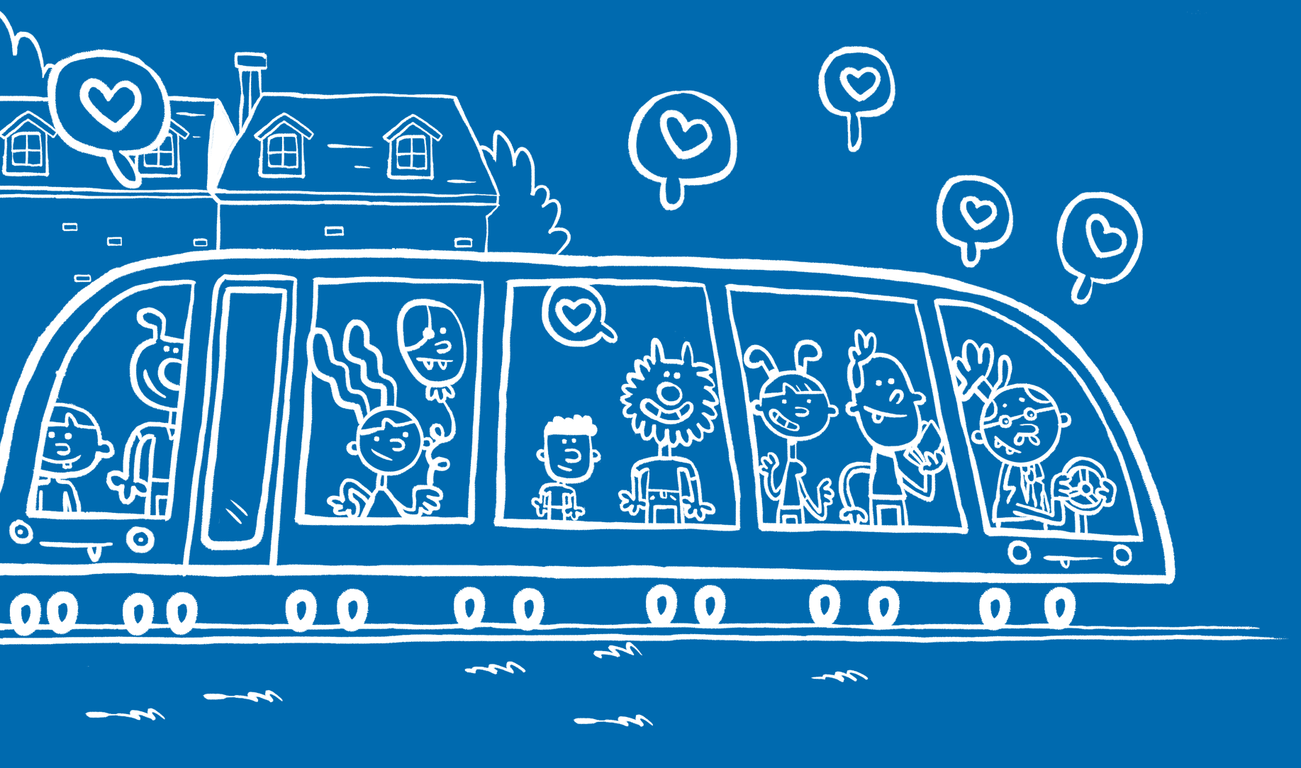 illustration j'ai hâte au tramway